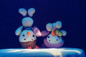 Сонейка і снежныя чалавечкі